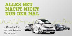 smart: Wenn Sie Rad suchen, kommen Sie zu uns!  Von der Einlagerung Ihrer smart- Winterreifen über den perfekten Reifen-Service bis hin zu tollen Angeboten rund um Reifen und Kompletträder: Bei uns kommt der Frühling ins Rollen.