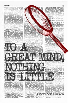 Wall art smart Quote Print Sherlock holmes fan Wall by PRRINT