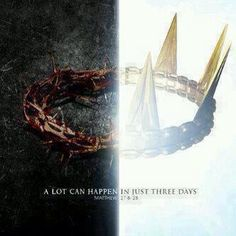 A lot can happen in just three days. <3 Follow us at http://gplus.to/iBibleverses