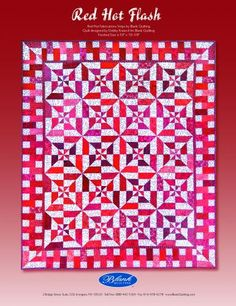 FREEBIES FOR CRAFTERS: Red Hot Flash Quilt