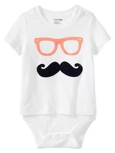 Playful graphic body double; what a cute onesie; part of Baby Gap's Garden Party Collection