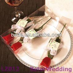 長い茎のローズの結婚式の蝋燭の結婚式の招待または好意LZ012の誕生日Gifts_party Souvenirs@BeterWedding
