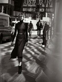 Neiman Marcus September 2014 | Sasha Luss by Peter Lindbergh