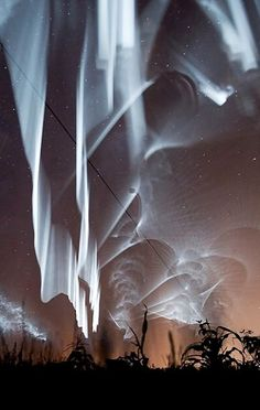 White Northern Lights in Lapland, Finland