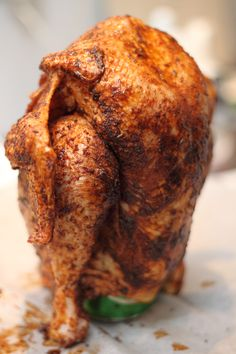 Beer butt Chicken with a lovely rub