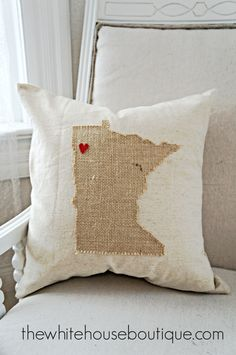 No Sew State Pillow {DIY}
