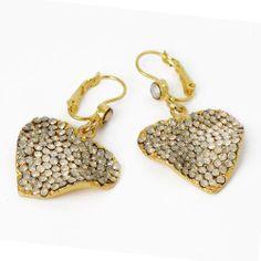 Seasonal Whispers NYC Swarovski Opal Crystal Leaf Shaped Dangle Earrings SusanB.. $100.00