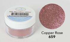 """Silk Microfine Glitter, in a variety of beautiful colors, is a high quality glitter with an amazing shine. Perfect for adding a sparkle to your card making, scrapbooking and other craft projects. When combined with Double Sided Adhesive tape, the Elizabeth Craft Designs """"Polished Silk"""" Technique the results are spectacular. comes in a 1/2 oz. jar Available instore and online."""