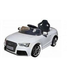 oferta Audi RS5 blanco de batería 12v niños, RC 2.4G