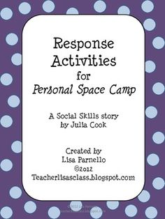Personal Space Camp Response Activities - Lisa Parnello - TeachersPayTeachers.com