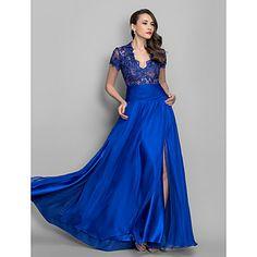 gaine / colonne Queen Anne-parole longueur robe de soirée en mousseline de soie (699 432) – EUR € 189.74