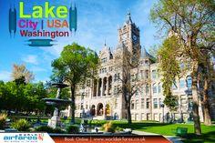 Lake #City - Washington, USA:  #america #washington #usa #historic #buildings #park #tower #destinations #sky #landmark #trees #travel #traveling #onlineflights #flightdeals #worldairfares #bookonline |   #Book & #Save with: https://www.worldairfares.co.uk/