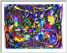 BLISS FREEDOM and HAPPINESS   Abstract Expressionism by Murray Eisner, $24.50