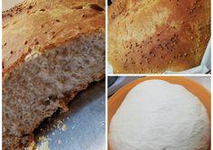 Ζυμωτό ψωμί στην γάστρα!!! συνταγή από ΒΑΣΙΛΙΚΉ ΜΠΕΡΜΠΙΛΑΓΚΑ - Cookpad Bread, Food, Brot, Essen, Baking, Meals, Breads, Buns, Yemek