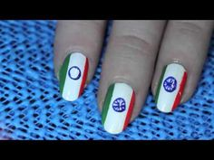 Here's an Indian flag nail art tutorial to celebrate your India pride! :)