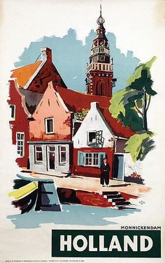 Poster by A. Frederiks - Holland Monnickendam
