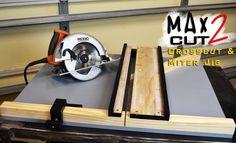 Making Circular Saw Crosscut & Miter Jig The MAX CUT 2  | Limited Tools ...