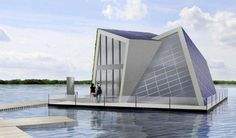 Floating House Floating House Unusual Homes Water House Floating House Architecture 12 Wow D. Floating Architecture, Water Architecture, Architecture Design, Floating Hotel, Floating In Water, Green Design, Houses In Germany, Design Innovation, Water House