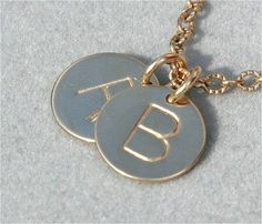 Would love to have this! Hand stamped jewelry gold disc necklace by underhercharm on Etsy