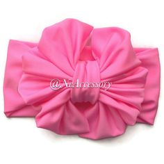 Baby hair Bow Baby Headbands Baby Photo Prop Pink by NeAccessory