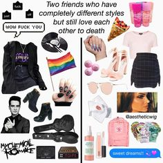 Literally me(left) and my bff(right) 😂 Aesthetic Fashion, Aesthetic Clothes, Girl Outfits, Cute Outfits, Fashion Outfits, I Have A Headache, Besties, Aesthetic Memes, Trendy Girl