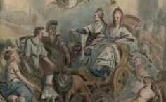 Allegory of the coronation of Louis XIV with Marie Antoinette