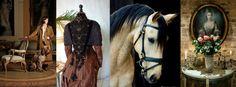 #GreatBritain, #Scottish, #Irish twist #Victorian #English tartan cottage fashion love black #manor horse riding hat outside. www.ouwbollig.eu