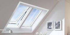 Roto Roof windows » Roto Designo R8 - Twin roof window   l like the small gap