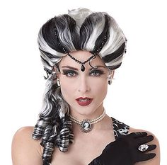 My Halloween costume #wig (stock photo from Spirit Halloween costumes) I just ordered for Mina of #BramStoker 's #Dracula -- #vampires #SpiritHalloween #ghostly #creepy #eerie #Halloween #spooky #Halloweencostumes