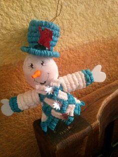 Papel crepe *Muñeco de Nieve*