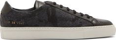 Common Projects: Black & Grey Camo Achilles Sneakers | SSENSE