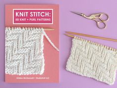 This printed Knit Stitch Pattern Book gives you 50 unique hand-knit designs. Easily understand exactly how to create each texture stitch-by-stitch with chart diagrams and written instructions to knit both flat and in the round. Knitted Heart Pattern, Easy Knitting Patterns, Crochet Patterns For Beginners, Knitting Stitches, Knitting Designs, Knitting Projects, Stitch Patterns, Knitting Help, Knitting Books