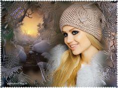 Večerný pozdrav   Obrázky pre radosť Snow Gif, Gif Collection, Crochet Hats, Winter, Women, Fashion, Knitting Hats, Winter Time, Moda