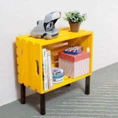 Diy dco home ikea furniture 20 ideas Ikea Furniture, Repurposed Furniture, Pallet Furniture, Furniture Design, Furniture Ideas, Wooden Crates, Diy Home Decor, Recycling, Sweet Home