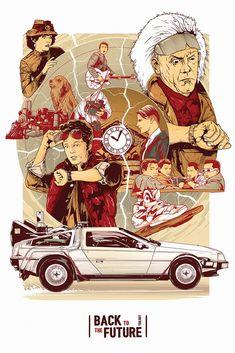 Back To The Future trilogy poster by Harry Movie Art Fan Poster, Movie Poster Art, Marty Mcfly, Greg Capullo, Culture Pop, Geek Culture, Back To The Future, Future Car, Pop Art Posters