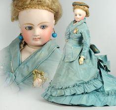 Barrois French Fashion with Original Costume #dollshopsunited #barrois #antiquedoll