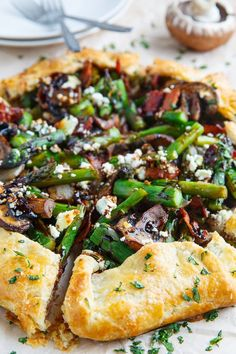 Asparagus and Mushroom Galette with Bacon, Goat Cheese and Balsamic ...