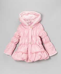 Pink Puffer Coat - Toddler & Girls by Just Fab Girls #zulily #zulilyfinds