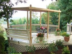 Pergola With Louvered Panels