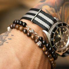 bracelets + montre bracelet tissu