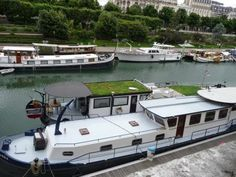 houseboats along Canal St. Martin Houseboats, France, Paris, Holiday, Montmartre Paris, Vacations, Paris France, Holidays, Vacation