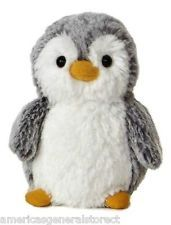 "POMPOM MINI PENGUIN 5.5"" tall plush stuffed animal BY AURORA Christmas Holiday"