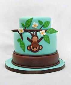 upside down monkey cake ~ too cute!