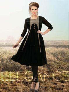 Black Georgette Beautiful Designer Kurti