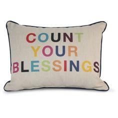 9 by Novogratz Count Your Blessings Decorative Pillow - Walmart.com