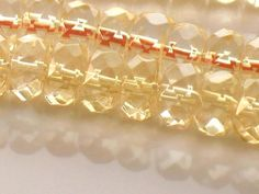 AAA Citrine Faceted Rondelle Beads 8mm Sunny by JewelryQuestDesign, $31.99