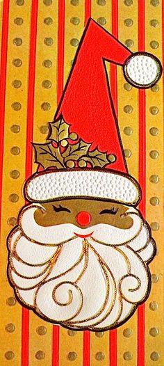 Vintage Mid Century Santa Christmas Greeting Card