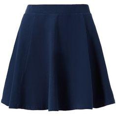 Navy Skater Mini Skirt