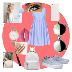 """On the boardwalk"" by dkreb on Polyvore featuring Revo, Larsson & Jennings, Lime Crime and Topshop"