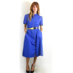 80s Cotton Piped Dress now featured on Fab.com $95